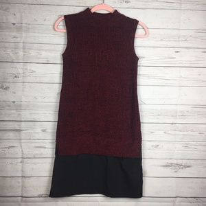 French Connection Red Mock Neck Sweater Dress