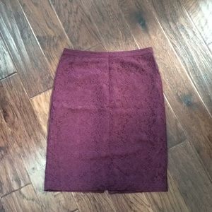 Banana Republic pencil skirt in floral lace