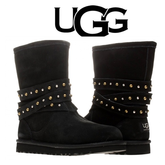 black studded uggs