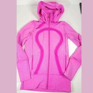 Lululemon Stride Jacket sz 4 Paris Pink White Micr