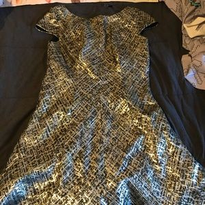 Gorgeous silver and gold Shoshanna dress