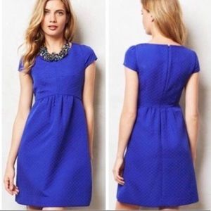 Anthropologie HD in Paris royal blue dress size 4