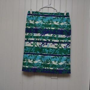 Talbots SZ 14 Womens Pencil Skirt Lined Kick Pleat