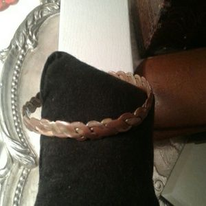 Vintage hand made brass and copper braided bracwle