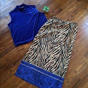 Vintage maxi skirt by Joan Leslie.