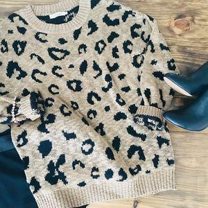 Elodie leopard print sweater. Super Soft!