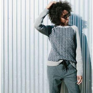 Madewell Reverse Herringbone Sweater