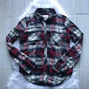 Abercrombie & Fitch Plaid Flannel Button-Down Top