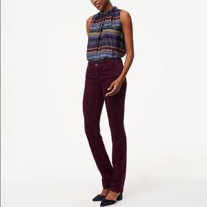 NWT Ann Taylor Loft Modern Straight Corduroy Pant