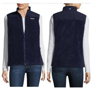 Vineyard Vines High Pile Sherpa Fleece Navy Vest