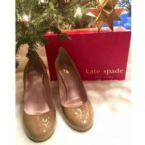 NWT Kate Spade Nude Patent Leather Heels
