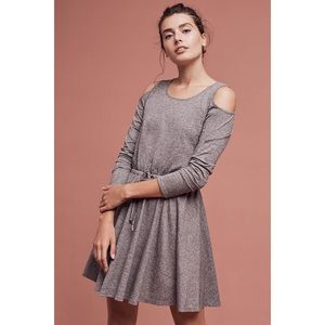 Anthropologie Lili's Closet shoulder cut out dress