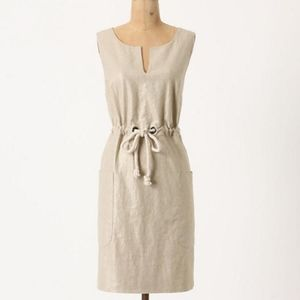 Maeve Anthropologie Flaxen Shimmer Dress 6 #1840