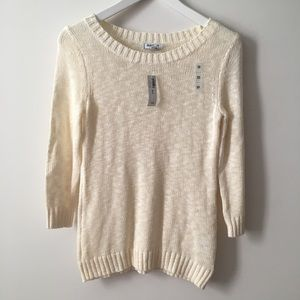NWT Old Navy Off-White Soft Knit Sweater