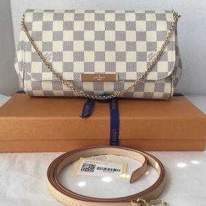 Louis Vuitton Favorite MM Damier Azur Canvas Bag
