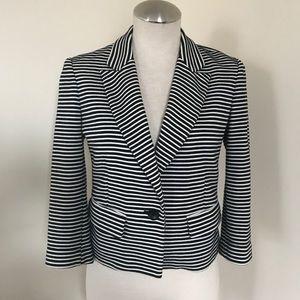 Striped cropped jacket/blazer