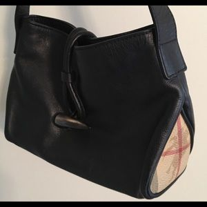 Burberry Leather Horn Toggle Small Shoulder Bag