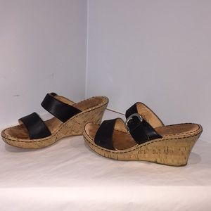 Born wedge sandals woman size 8.