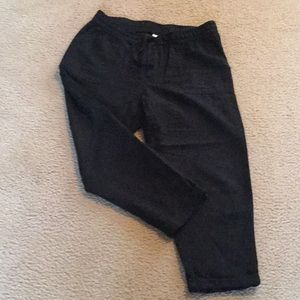 Old Navy Black Linen Capris