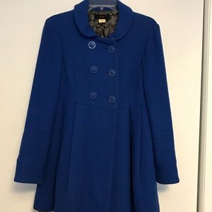 Anthropology/Lux blue coat.