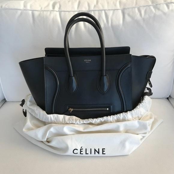 a704db259ac3 Celine Handbags - Authentic Celine Micro Luggage Black Calfskin