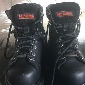 🌑Black Harley-Davidson boots