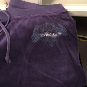 Juicy couture logo velour pants