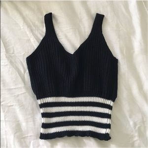 Nautical Knit Crop Top