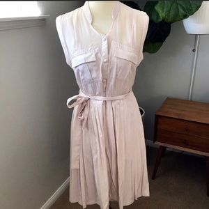 Anthropologie pink sheath dress size 8.