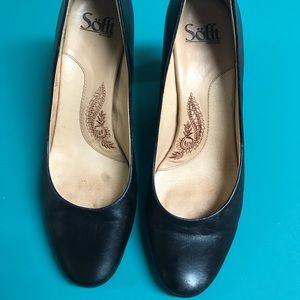 Sofft black leather heels