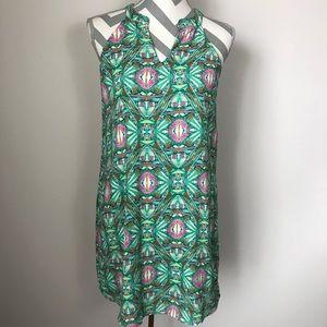 {S} Abstract Print Shift Dress - Buddy Love