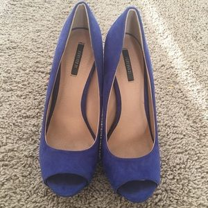 Forever 21 Blue Suede Pumps