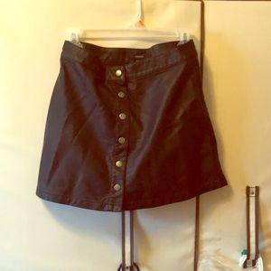 NWT Faux Leather Mini Skirt