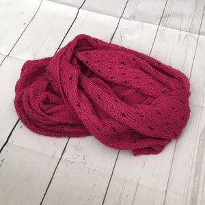 LARGE Infinity scarf Pink Knitted