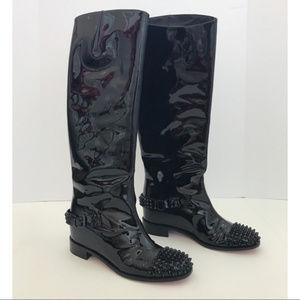 Christian Louboutin Black Spike Boots size 40.5