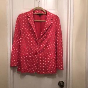 Talbots Pink Polka Blazer - Medium