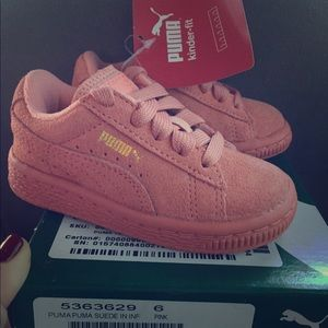 Puma Pink Suede toddler shoes