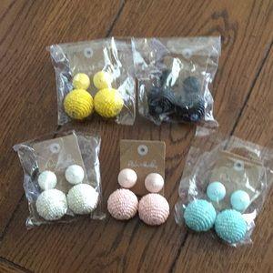 NEW Color beaded ball drop earrings
