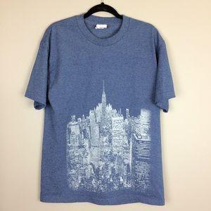 Majestic New York Yankees city & statue t shirt