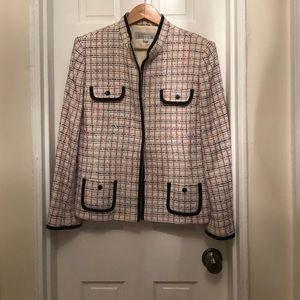 Tahari Arthur S Levine pink tweed jacket