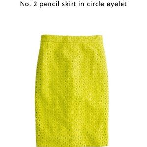 J Crew No. 2 Pencil Skirt in Circle Eyelet