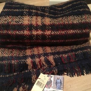 Collection 18 Navy Mosaic Scarf
