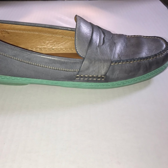 1035342ec85 Peter Millar leather slip on moc toe Penny loafers