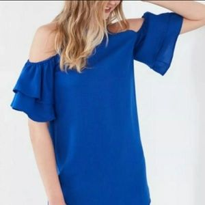 Silence and Noise Flutter Sleeve Dress