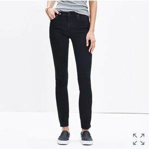 Madewell high riser skinny jeans black frost