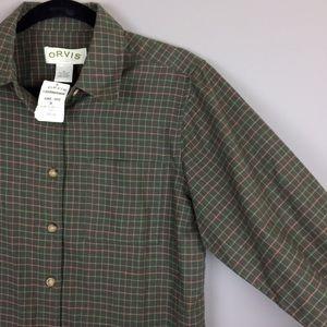 Orvis Battenkill cotton wool button down shirt