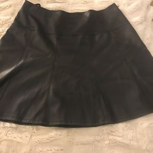 Ann Taylor Fit & Flare Faux Leather Skirt