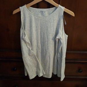 NWT Loft cold-shoulder top
