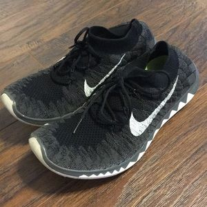 Nike free flyknit 3.0 black and grey