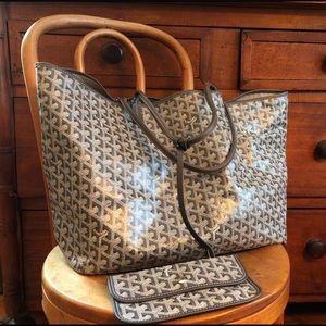Goyard GM shopping tote w Barney's receipt